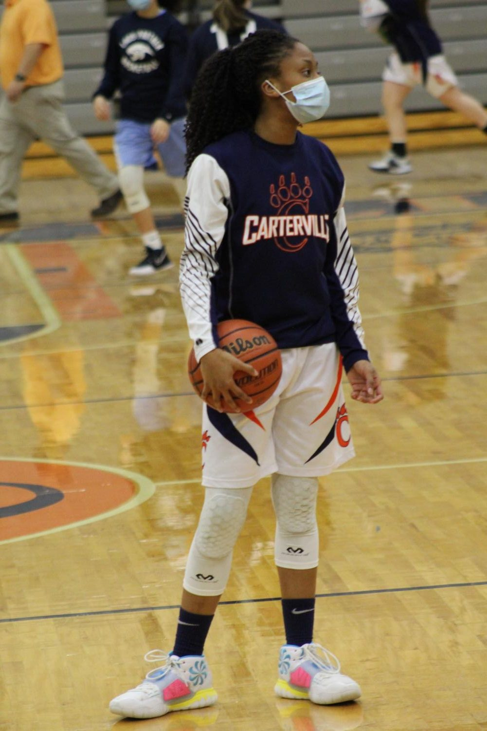 """""""I love playing with my teammates and the chemistry we have with one another. I also love playing with my little sister, Amayah. I just love basketball in general, so I"""