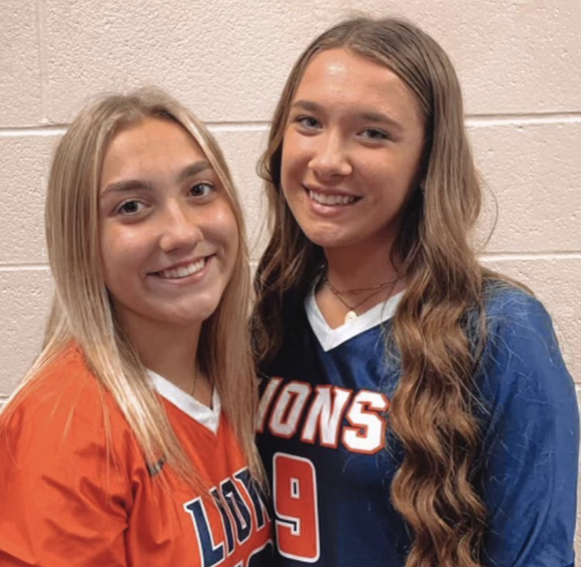 Hannah Lynch(12) and Lauren Lynch(11) pose for a photo after the big game.